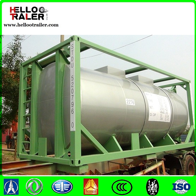 China Carbon Steel 20FT ISO Tank Container pictures & photos