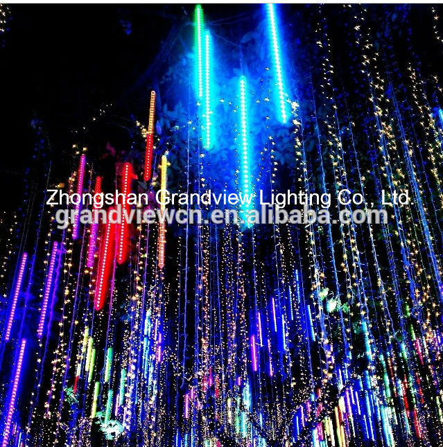 China LED Meteor Shower Rain And LED String Lights For