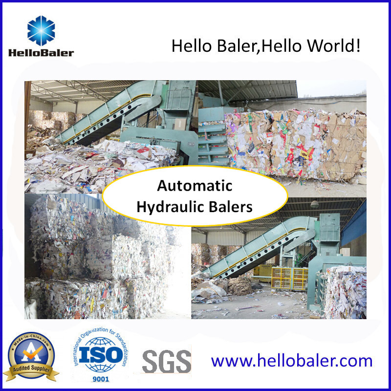 Horizontal Automatic Baler Machine with Conveyor (HFA20-25) pictures & photos