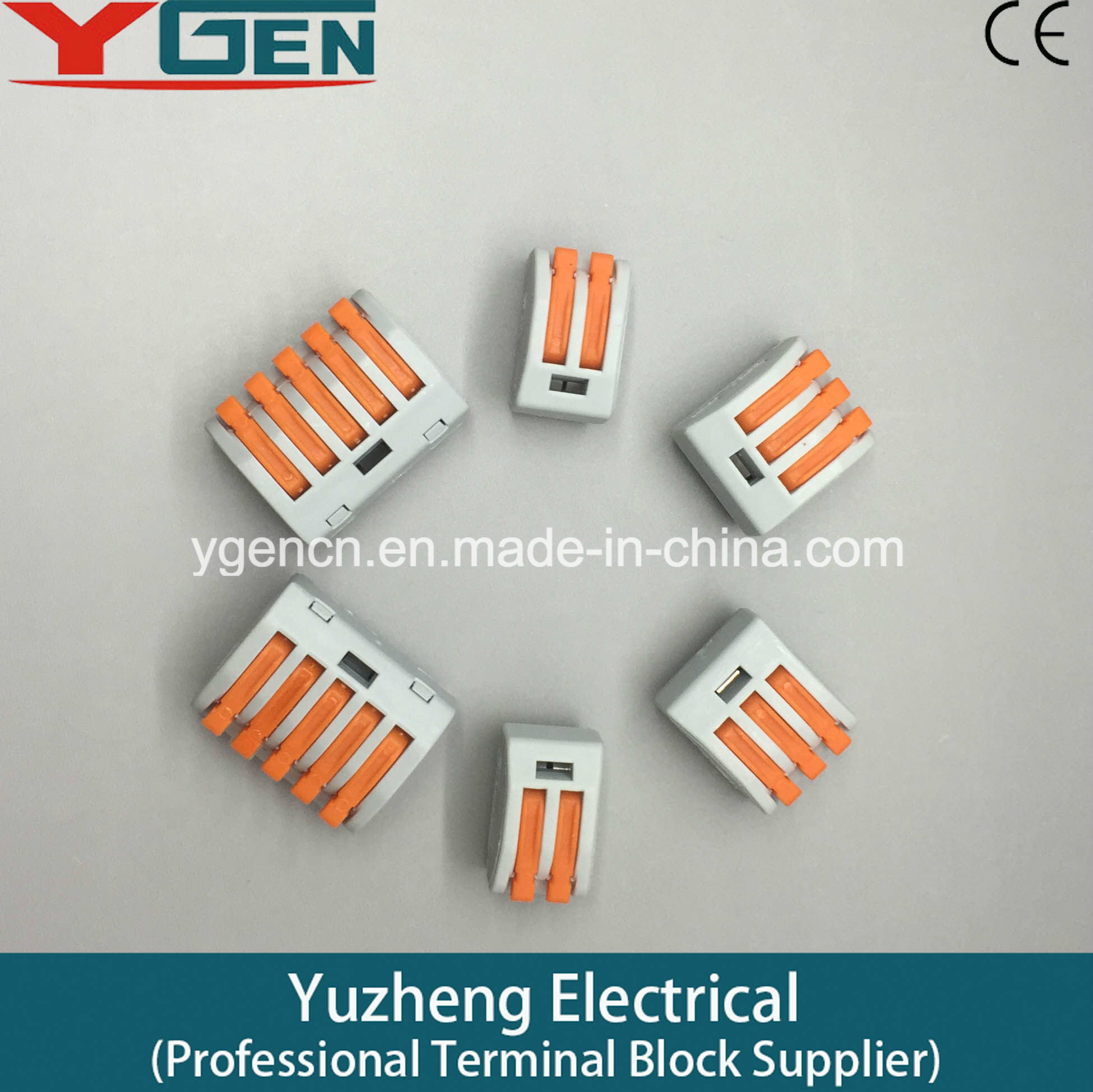 China Ce Wago 222 Series Compact Splicing Connector 2 Wire 412 Terminal Block Lever Cage Clamp