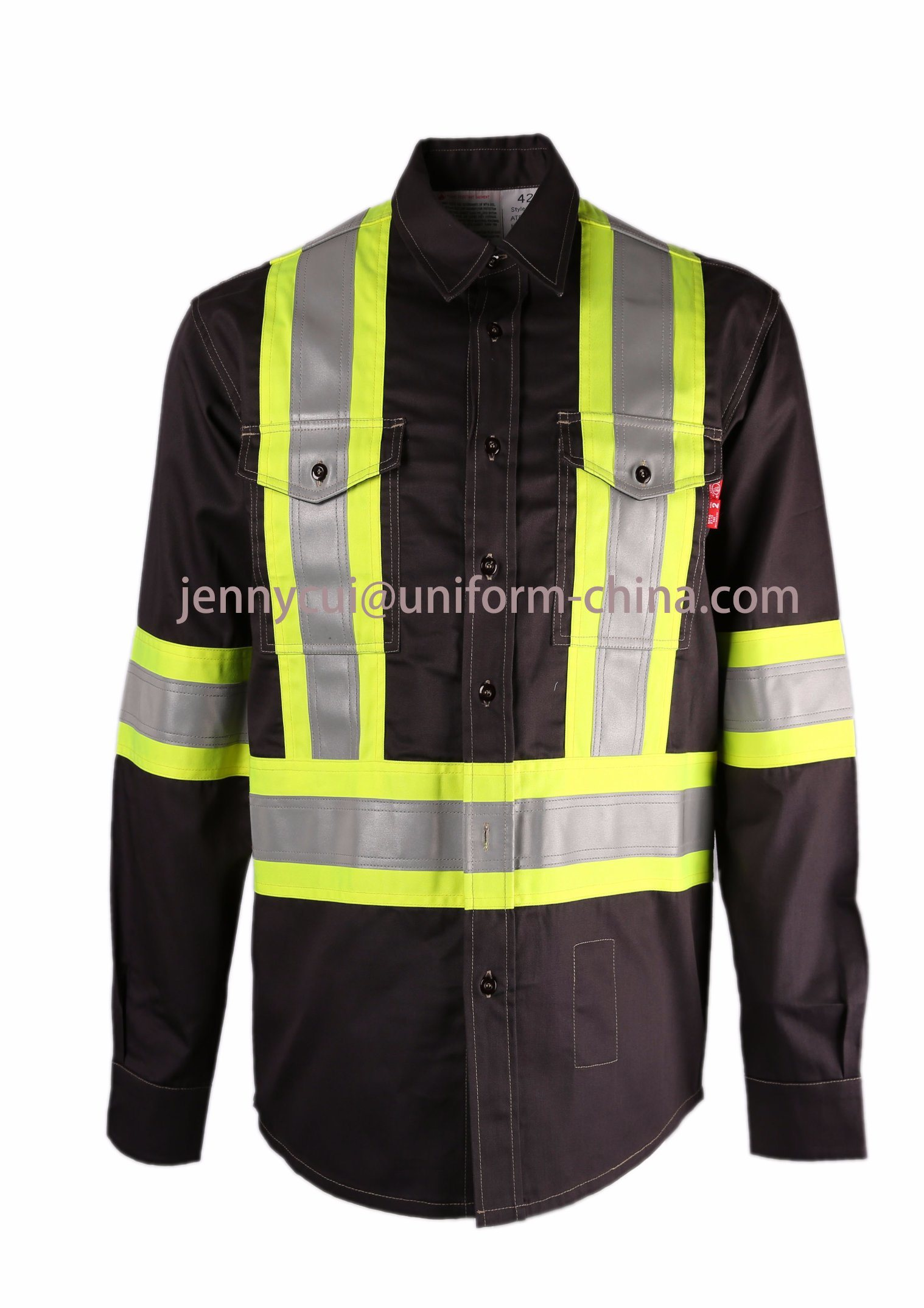 Nfpa2112-2012 Reflective Tape Fr Shirt Used Fr Clothing