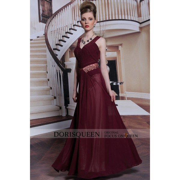 China Dorisqueen Ready to Wear Dark Red Elie Saab 2014 Cheap Long ...