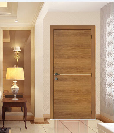 China Veneered Entry Door Of Rustic Wood Style Traditional Pine