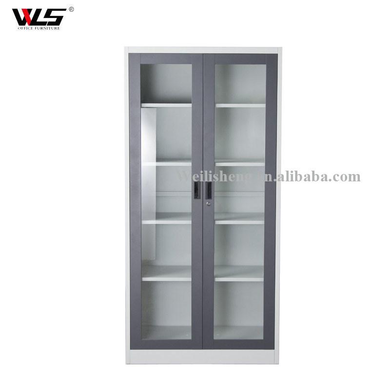 China Morden New Design Metal Glass Door Steel Cabinet