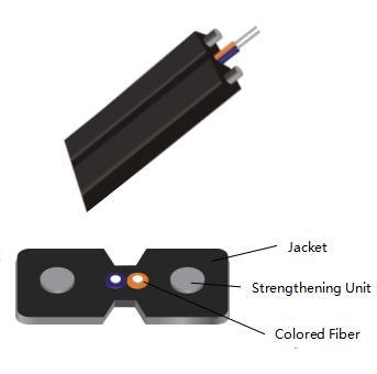 1/2core LSZH G657A2 Indoor Drop Cable Optical Fiber Cable with Strengthen Member pictures & photos