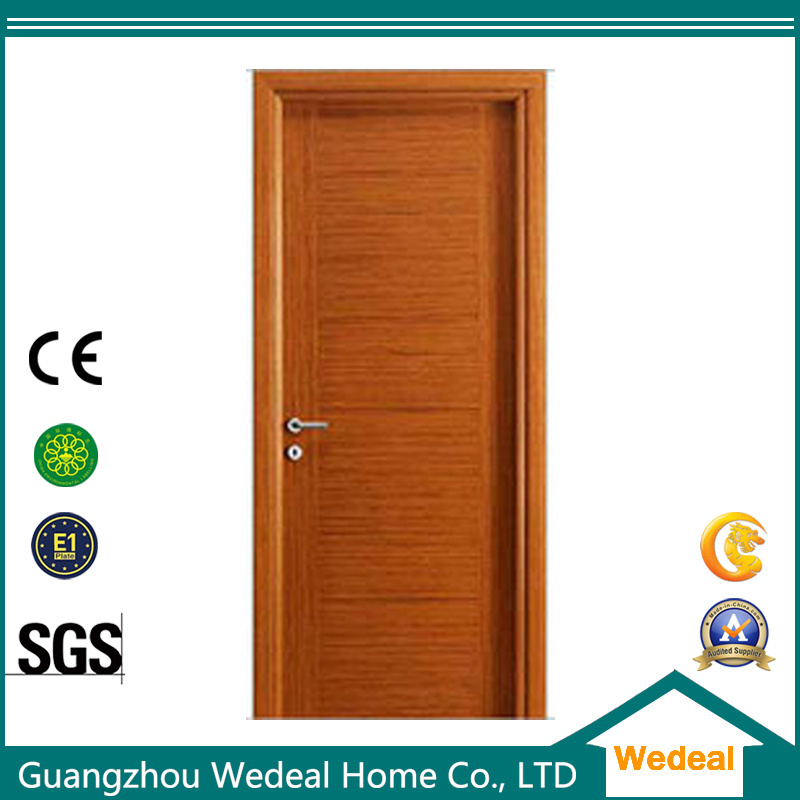 China Natural Oak Veneer Interior Flush Wood Door For Hotel Project