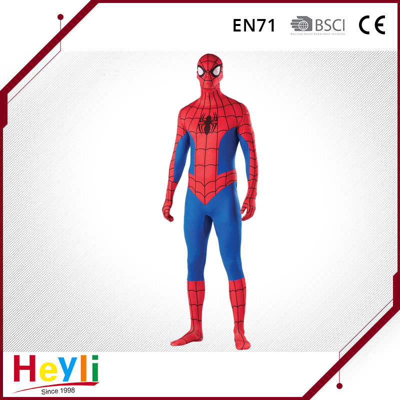 Movie Hero Adult Spiderman Cosplay Costume for Party Idea