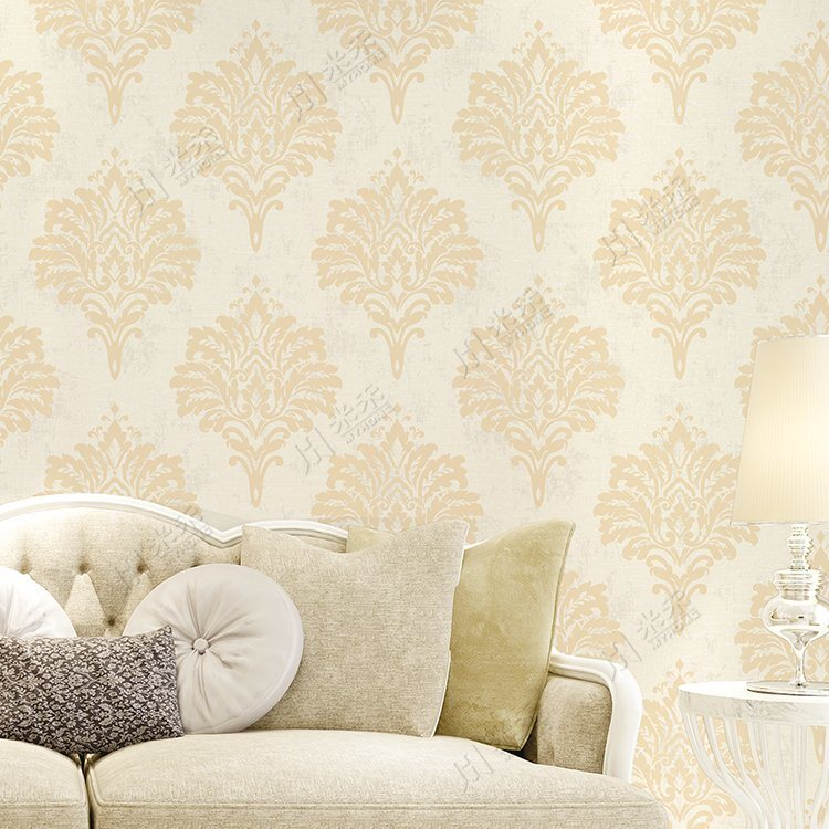 Hot Item Luxury Big Flower Design Damask Pvc Waterproof Wallpaper For Sale