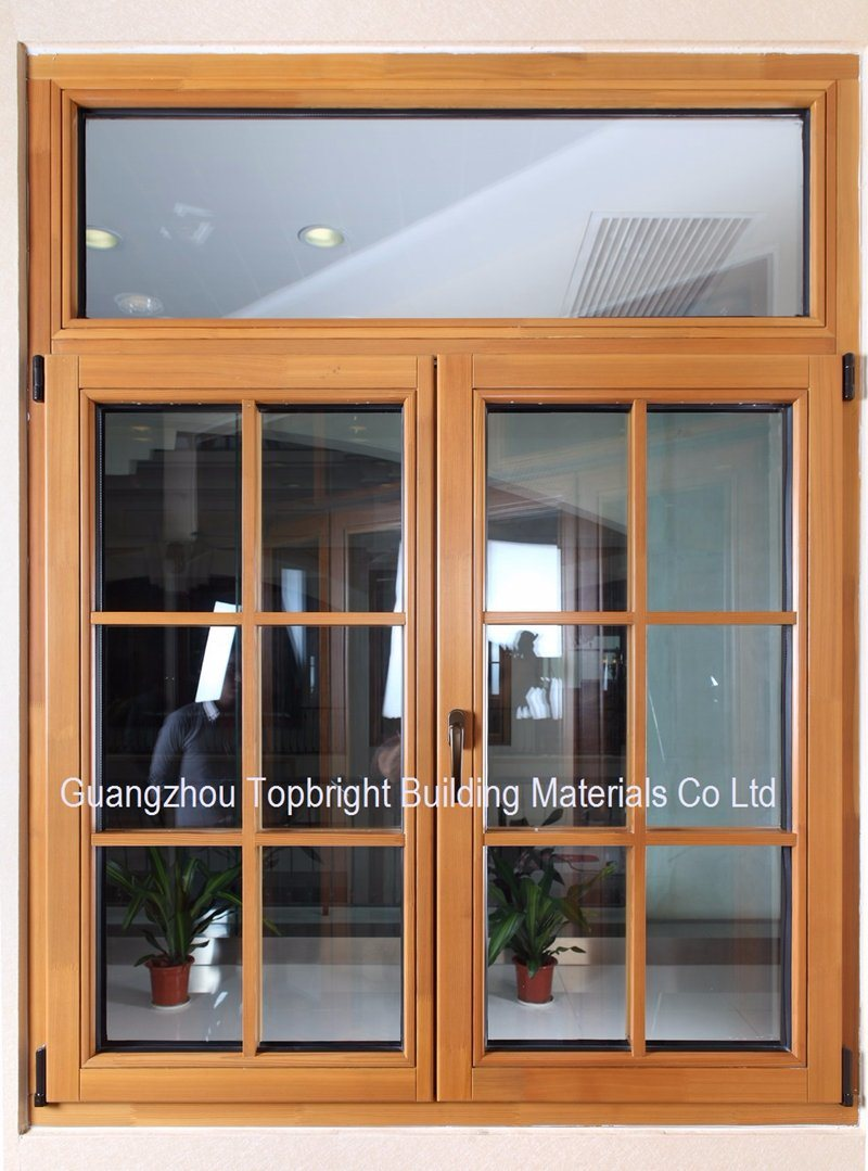 Double Glazing Aluminum Clad Wood Casement Window