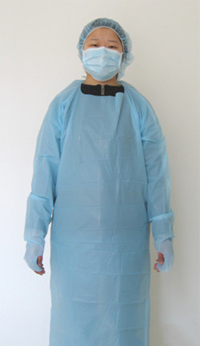 China Disposable Ultrasonic Long Surgical Gown, CPE Gown, Doctor ...