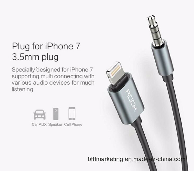 Aux Cord Audio to Lightning Cable for iPhone 7/7 Plus with 3.5mm Plug pictures & photos