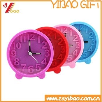 Wholesale Silicon Mini Colorful Table Alarm Clock