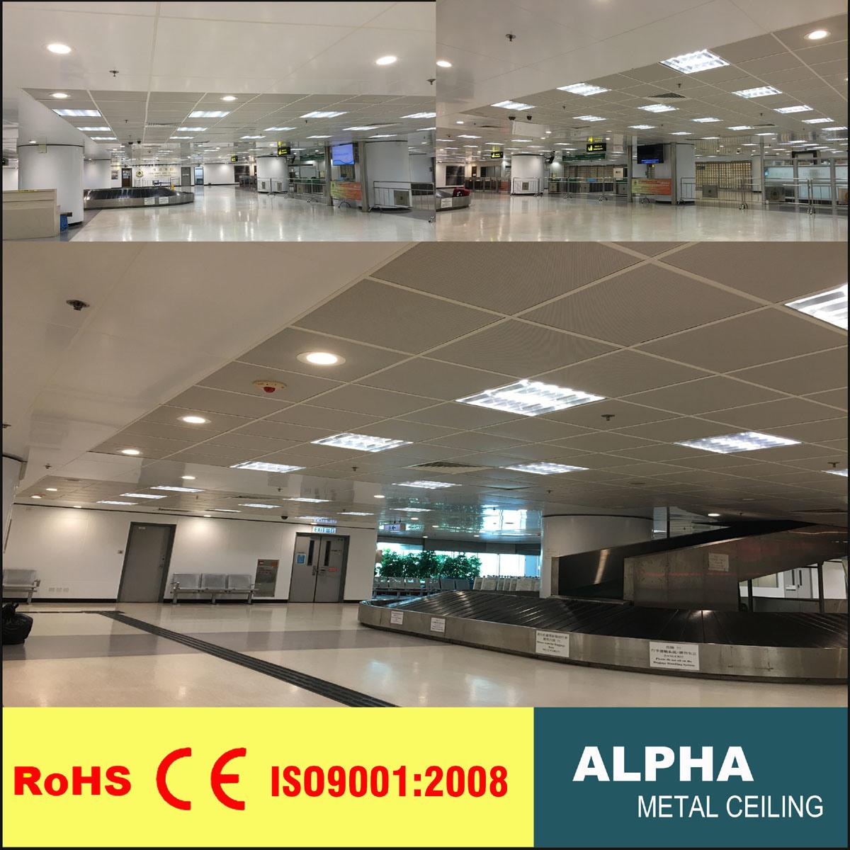 Aluminum Lay On Suspended Metal False Decorative Indoor Panel Ceiling
