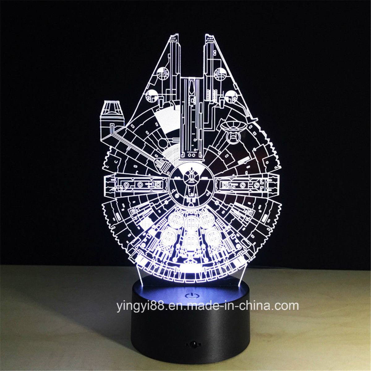 China Newest Star Wars 3d Illusion Night Light Color Change