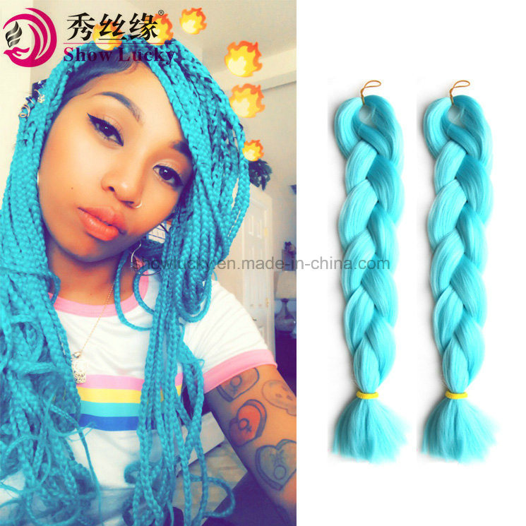 China Crochet Braid Hair Ombre Kanekalon Braiding Hair 24 Inch 100g