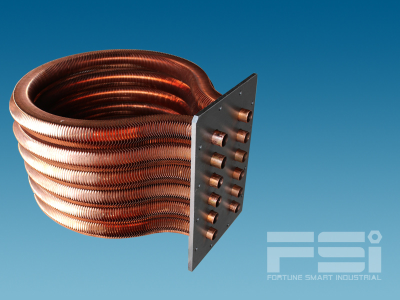 Copper Omega Shape Heat Exchanger 613