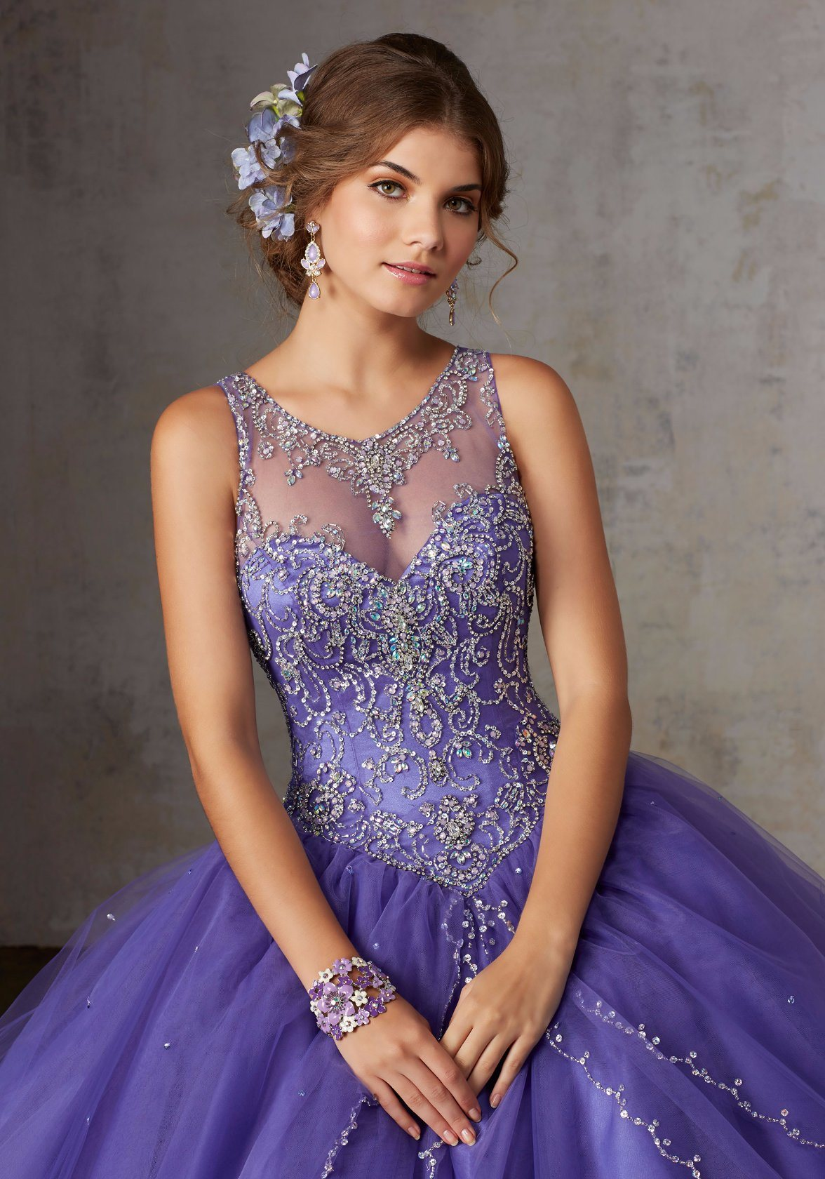 China Pink Blue Purple Beading Ballgown Prom Party Quinceanera Dress