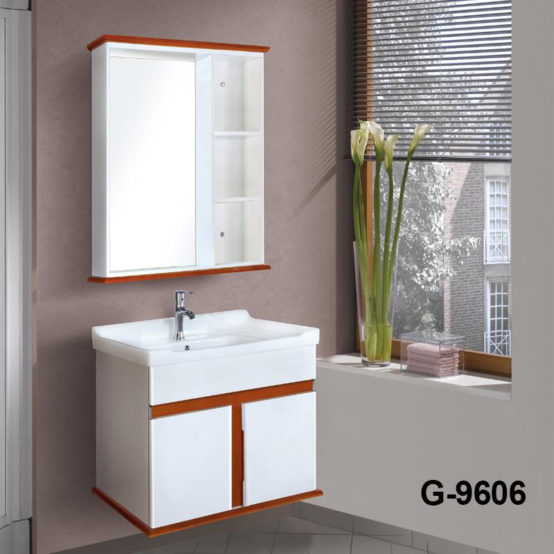 Pet Film Solid Wood Bathroom Vanity