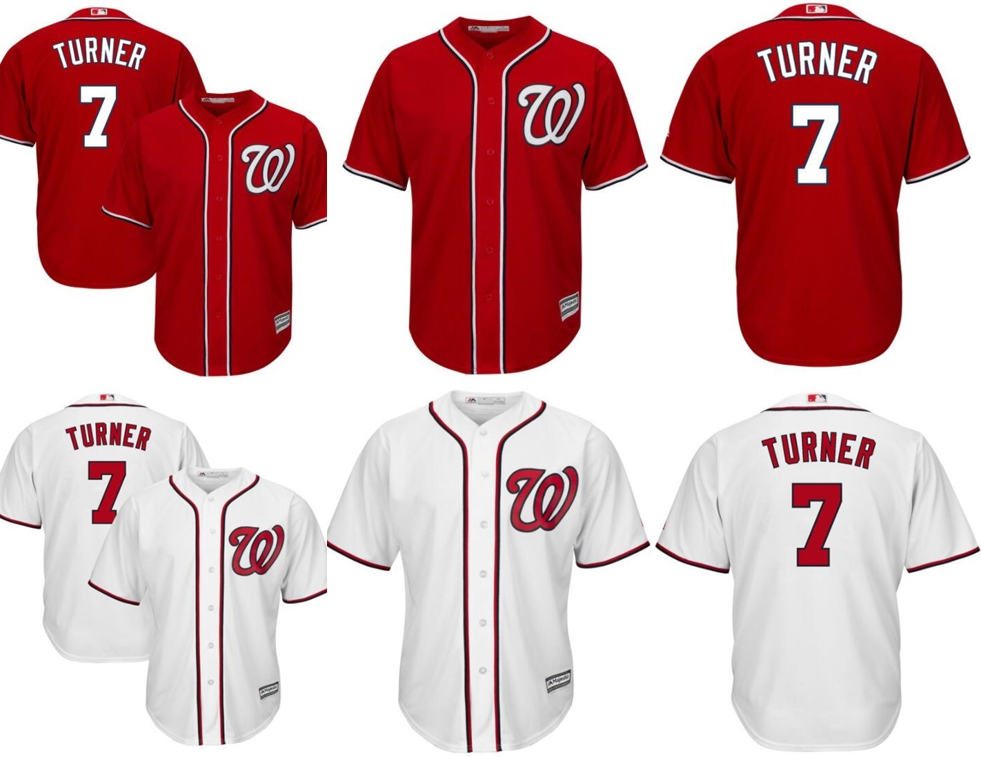 new style 415a6 72816 [Hot Item] Washington Nationals 7 Trea Turner Official Cool Base Player  Jersey