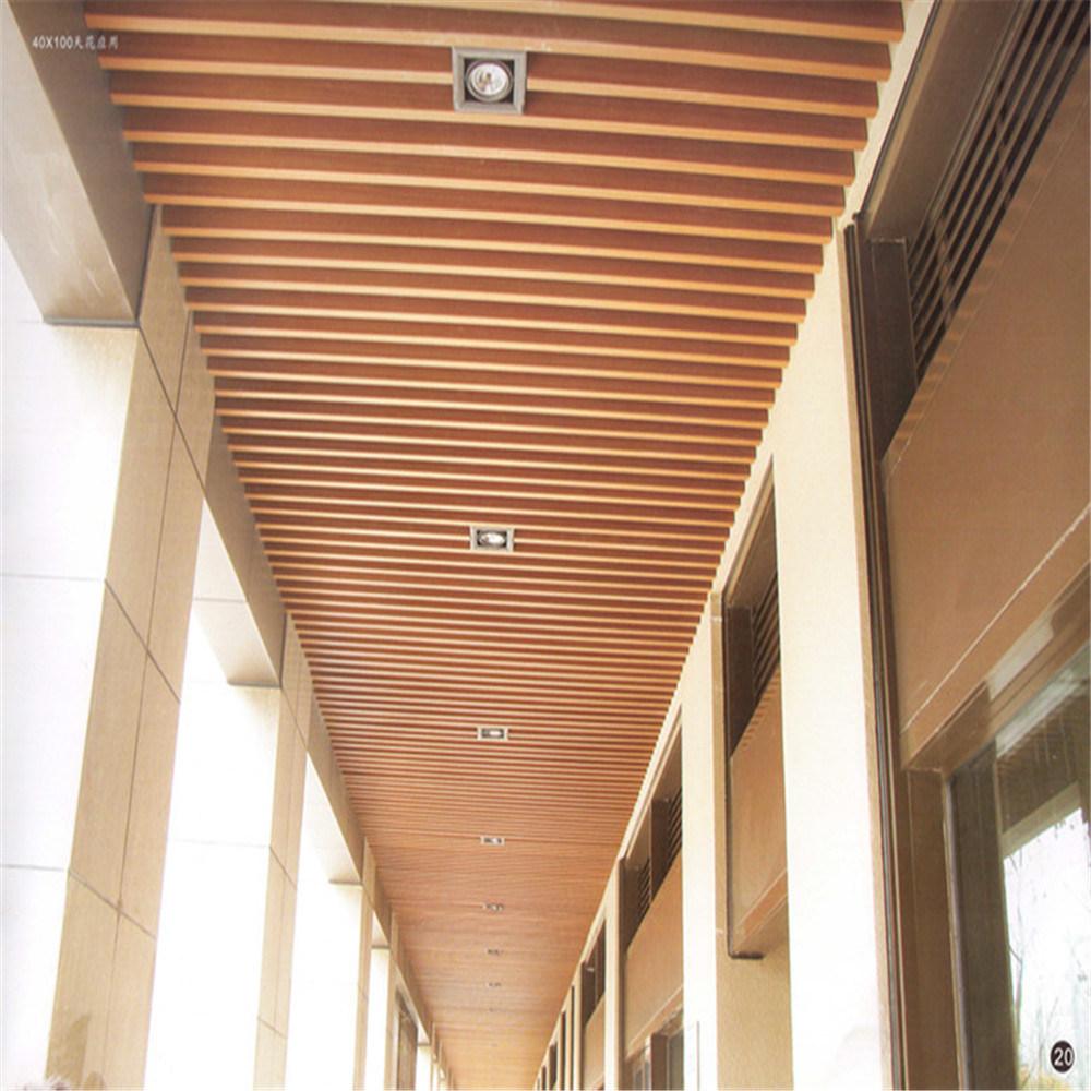 Fireproof Wpc Indoor Suspended Ceiling Board 100 40mm