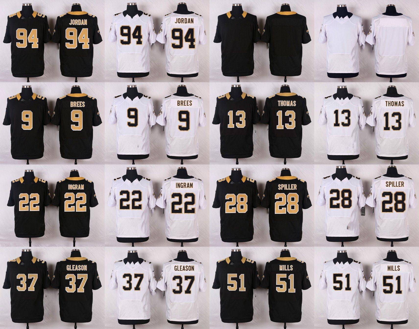check out d42ec 80bff [Hot Item] New Orleans Jordan Sam Mills Gleason C. J. Spiller Ingram  Football Jerseys