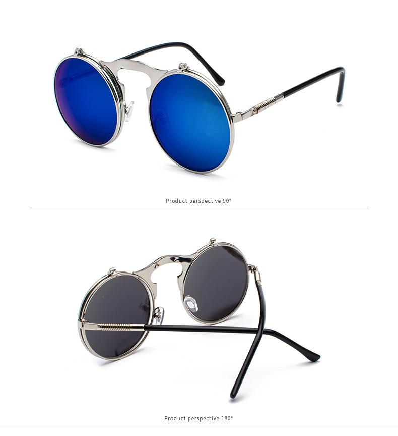 300b3354d27b China 2018 Hot Style Retro Metal Punk Steam Hipster Clamshell Flip up  Sunglasses - China Metal Sunglasses, Sun Glasses