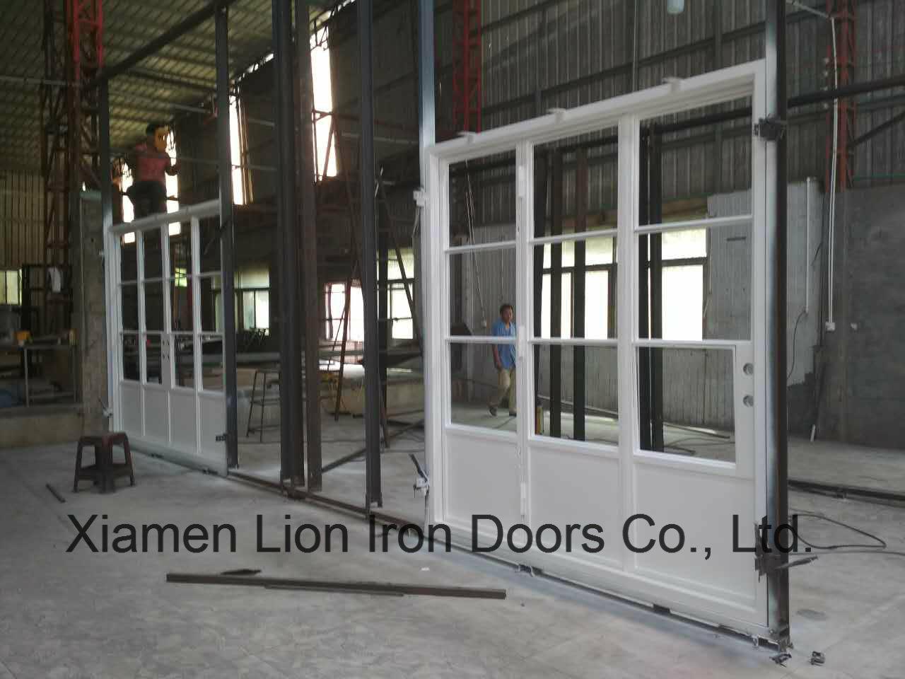 China Grill Design Custom Steel Doors Wrought Iron Entry Door
