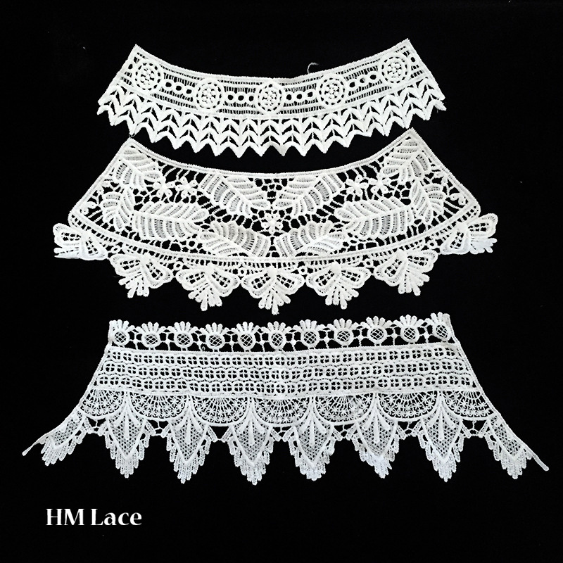 China 100 Cotton Water Soluble Embroidered Neckties Crochet Lace