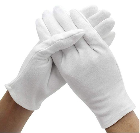 Wholesale Safety Gloves White Cotton Gloves in Stock for Ceremony and Industry