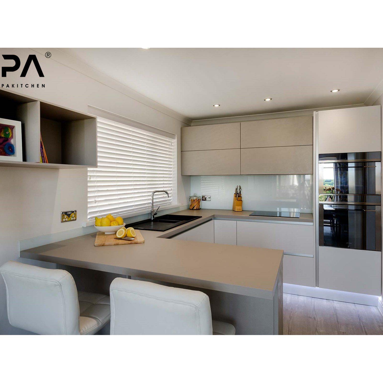 Grey Simple Kitchen Cabinets Modern