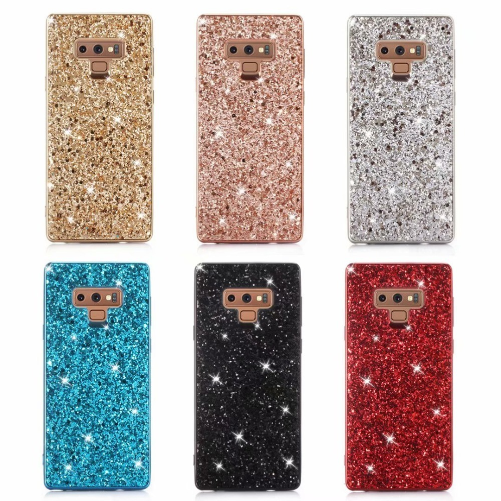 sports shoes 693ad 5f2b6 [Hot Item] Sinbeda Fashion Glitter Shimmering Phone Bag Cover for Samsung  Galaxy Note 9 8 Cases Luxury Phone Case for Samsung A6 A8 J4 J6