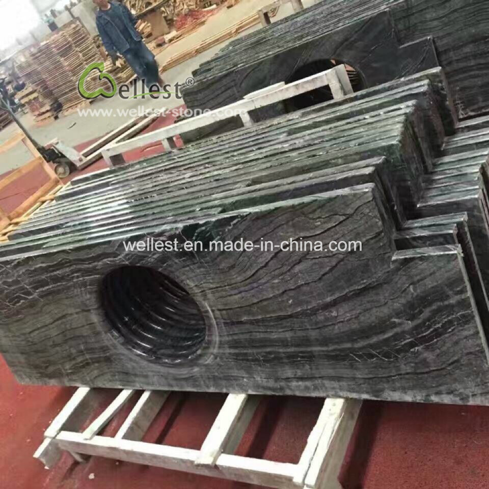 Ancient Wood Marble, Wooden Black Marble Marble Vanity Top, Marble Bar Top pictures & photos