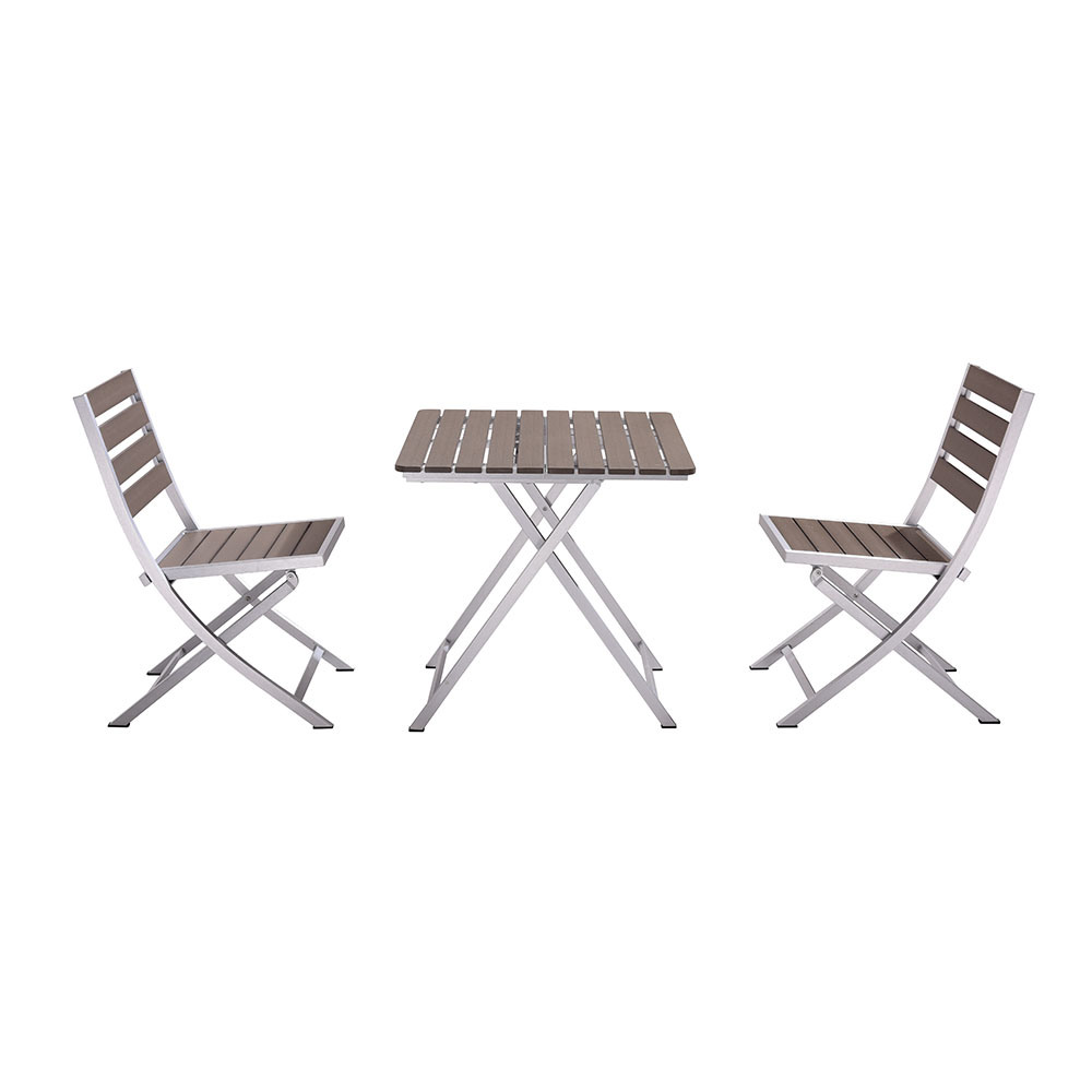 - China Aluminum Plastic Wood Folding Table And Chair Contemporary