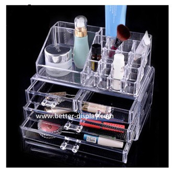 Factory Wholesale Clear Plasitc Acrylic Makeup Organizer