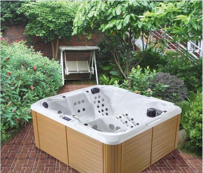 China New Two Lounges Whirlpool Hot Tub Massage Outdoor SPA (Selene ...