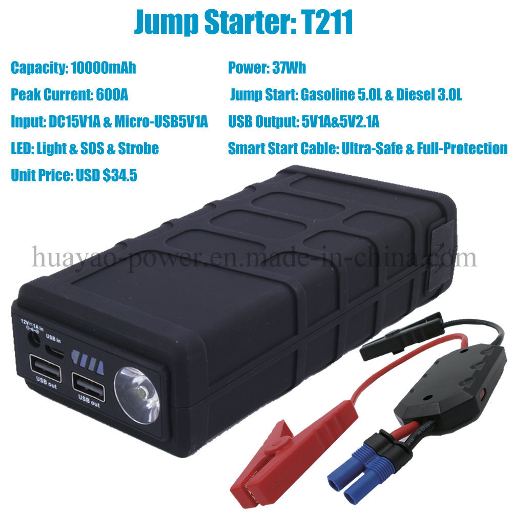 Portable Car Jump Starter Mini Battery Booster 10000mAh pictures & photos