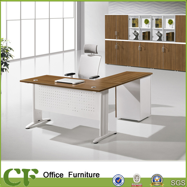 China L Shaped Curved Office Executive Desk With Metal Modesty Panel    China Executive Office Desk, Executive Table Price