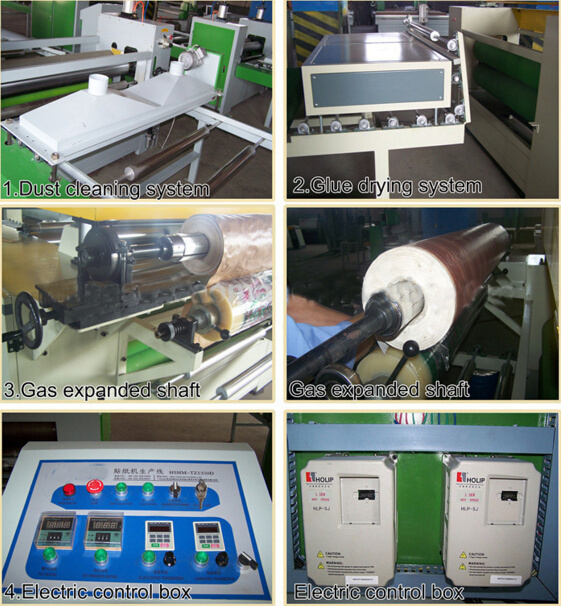 Woodworking Automatic PVC or Paper Laminating Line pictures & photos
