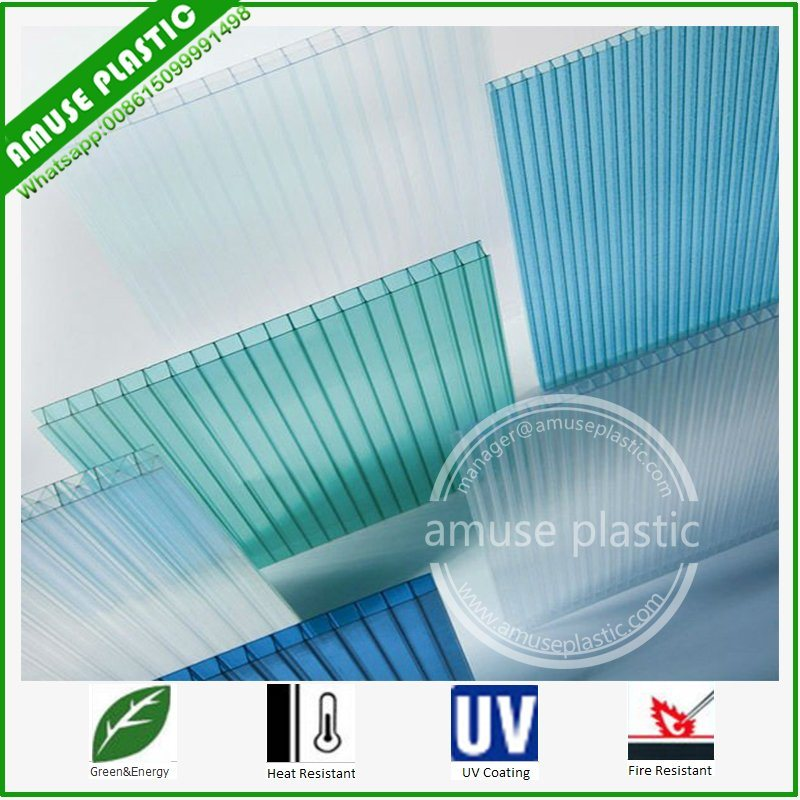 PC Twin-Wall Hollow Sheet Price Plastic PC Polycarbonate Sun Sheets pictures & photos