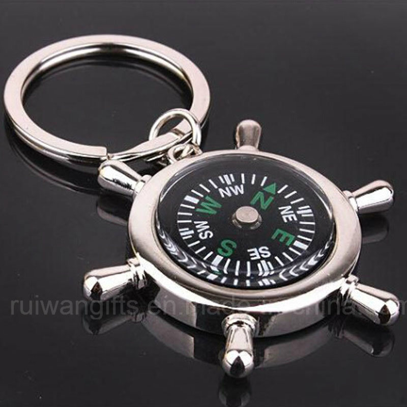 Promotional Wholesale Compass Metal Keychain (MKC103)