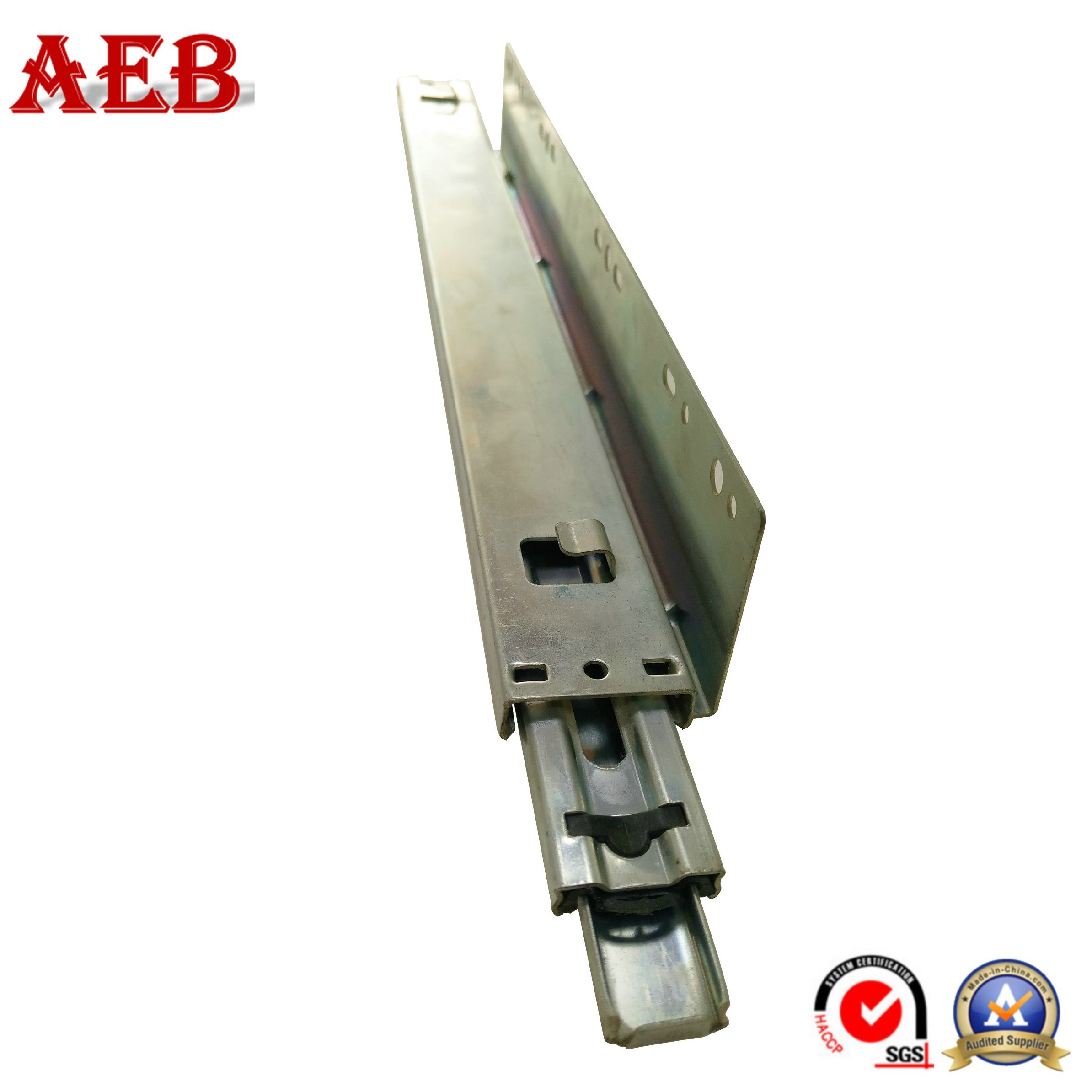 China L Shaped Kitchen Cabinet Drawer Slide 3 Folds Pull Out Shelf Runners 45mm Telescopic Track For Drawers Slides Ball Bearing