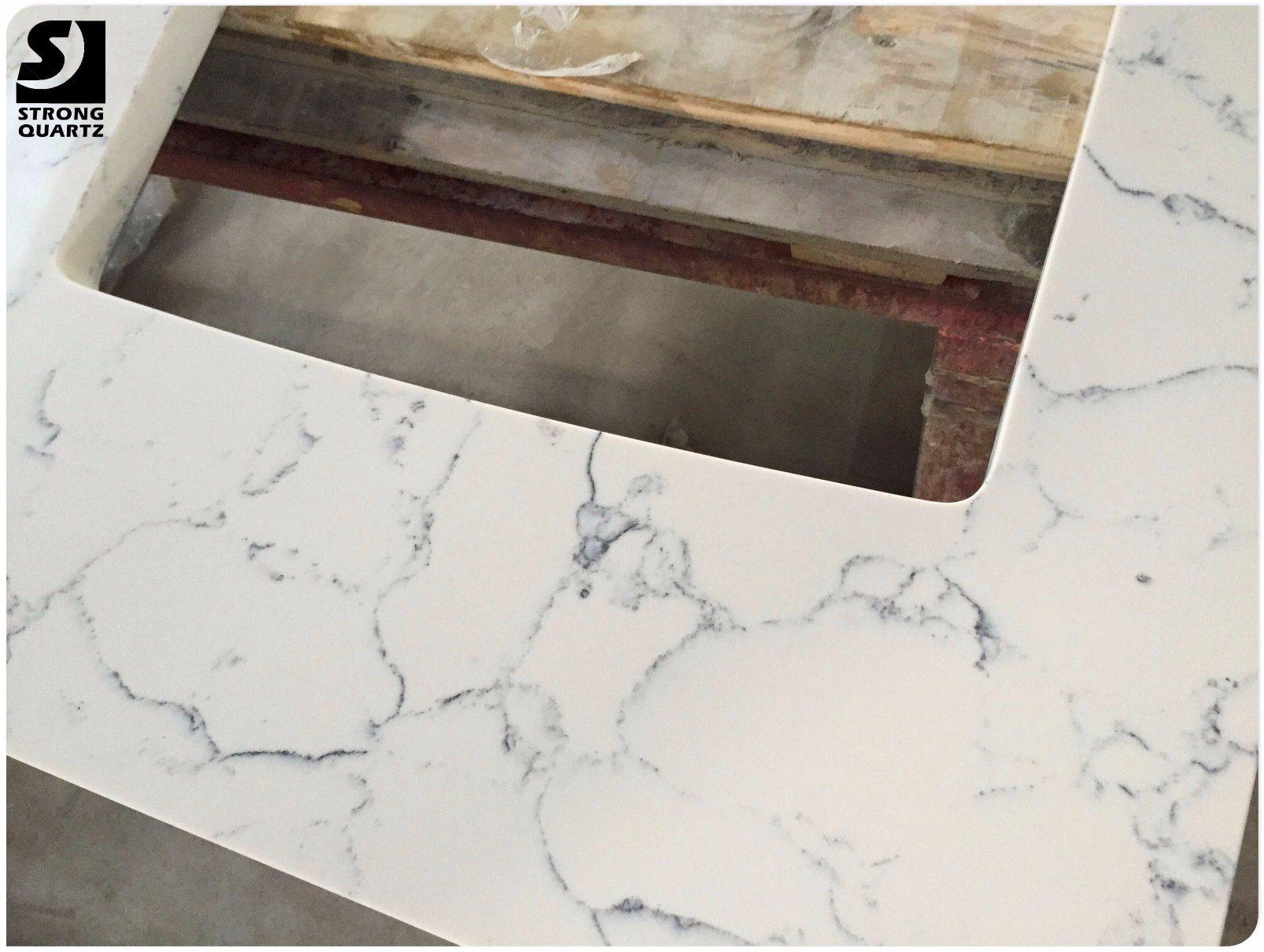 China Cut To Size Quartz Stone Carrara
