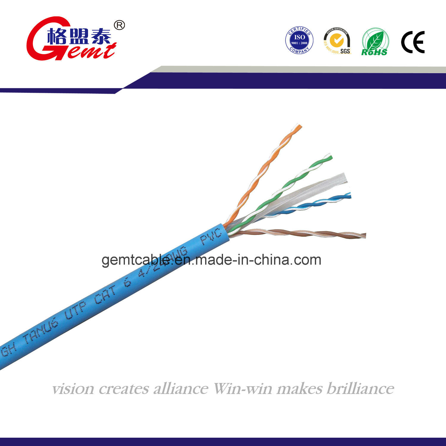 China UTP CAT6 Cable Copper 24 AWG Photos & Pictures - Made-in-china.com