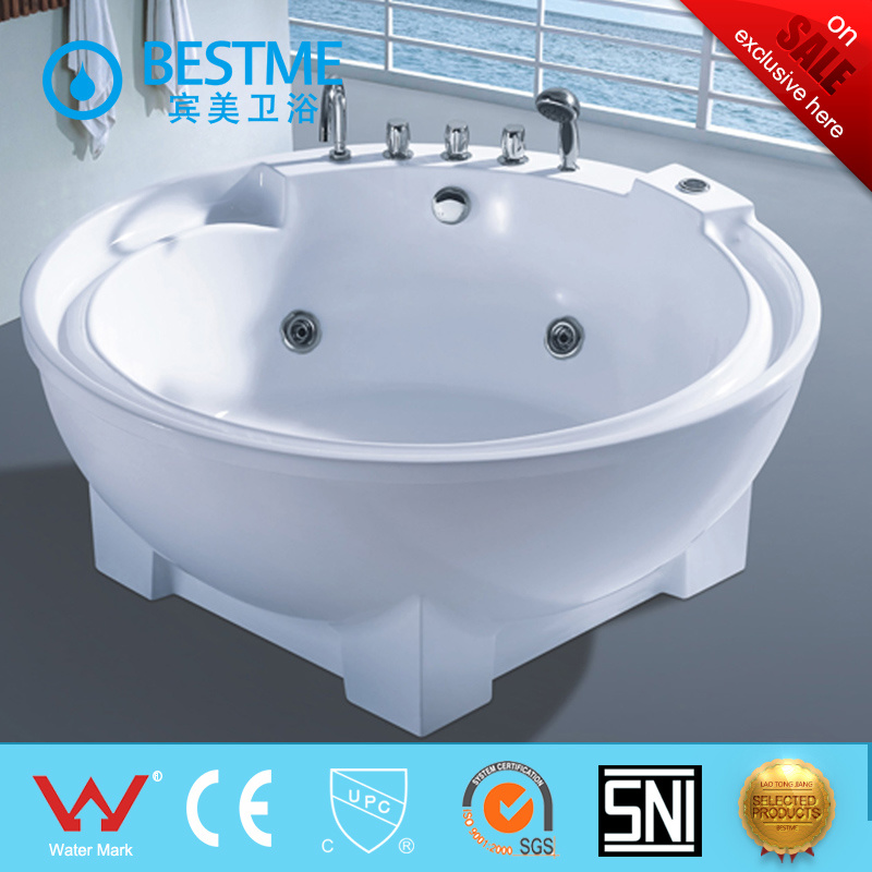 China Round Shape Free Standing Massage Bathtub with Skirt (BT-370 ...
