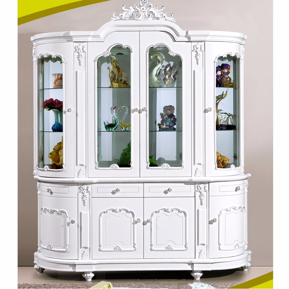 China Modern Bar Home Living Room White Wood Wine Cabinet - China ...