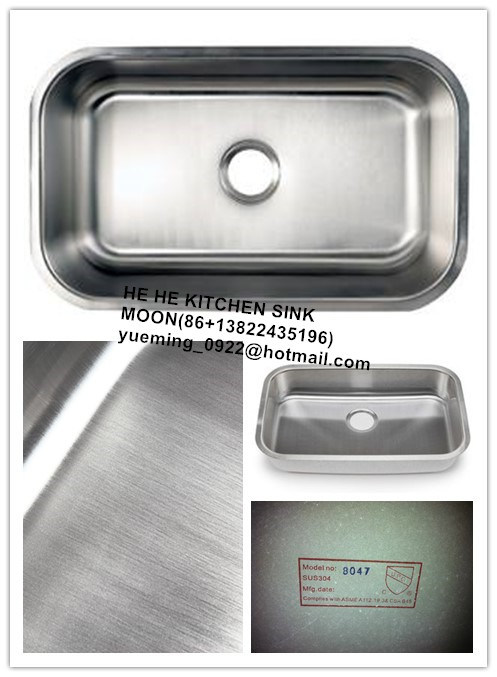 Undermount Single Bowl Stainless Steel Kitchen Sink with Cupc Certificate, Wash Basin, Laundry Sink pictures & photos