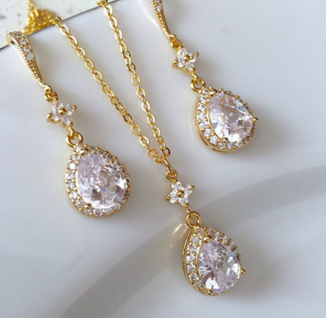 Bridal CZ Jewelry, Wedding Crystal CZ Jewelry, Crystal CZ Jewelry, Fashion Jewelry pictures & photos