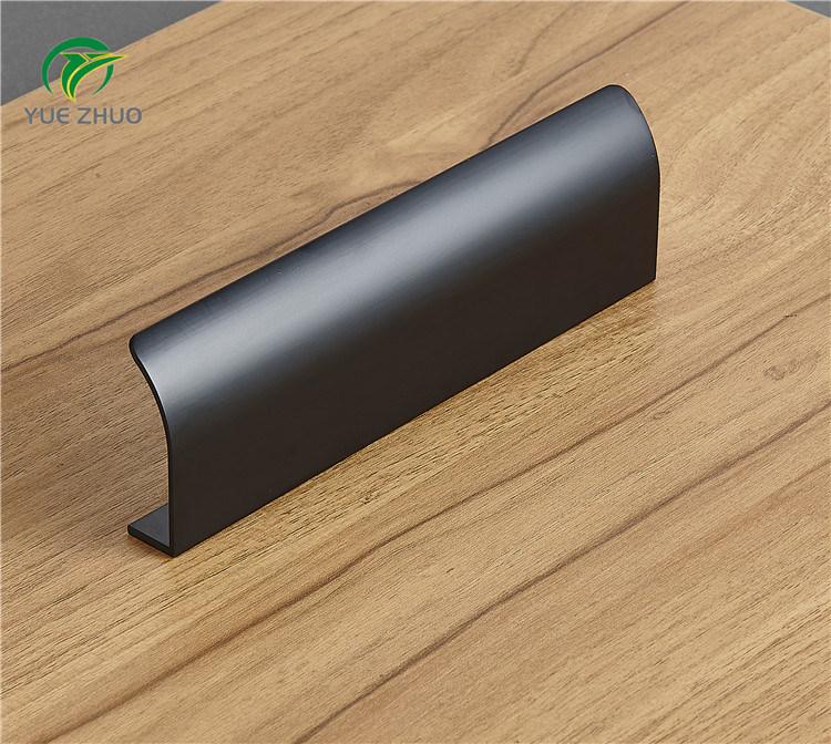 China Black Concealed Door For Aluminum Cabinet Handle Profile Kitchen Pulls China Hidden Drawer Handles Simple Kitchen Dresser Handles
