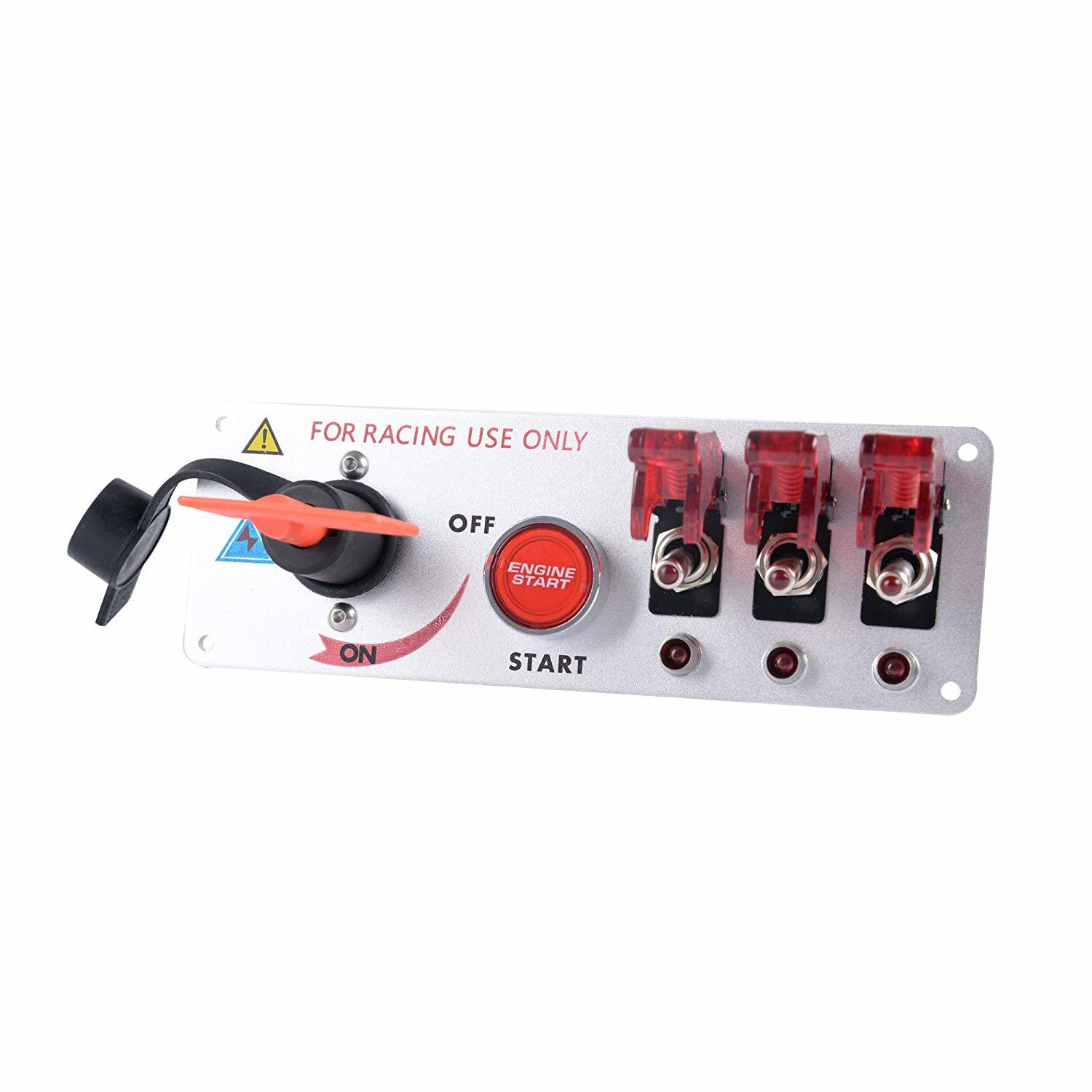 12V Ignition Switch Panel Car Toggle Switch for Racing Sport Competitive Car