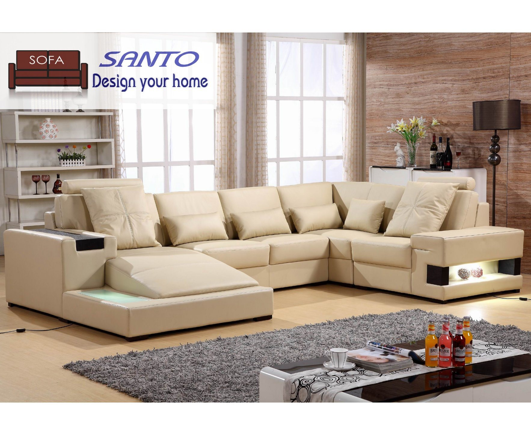 Leather Sofa New Style Set